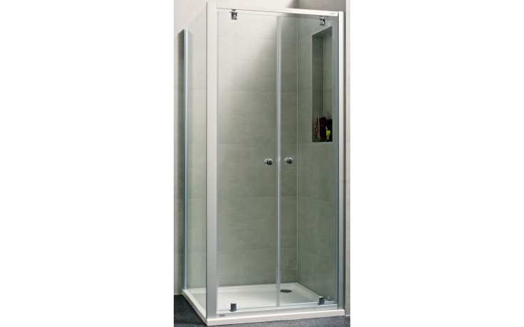 CONCEPT 100 NEW sprchové dveře 1000x1900mm lítací, stříbrná matná/čiré sklo AP, PTA20907.087.322