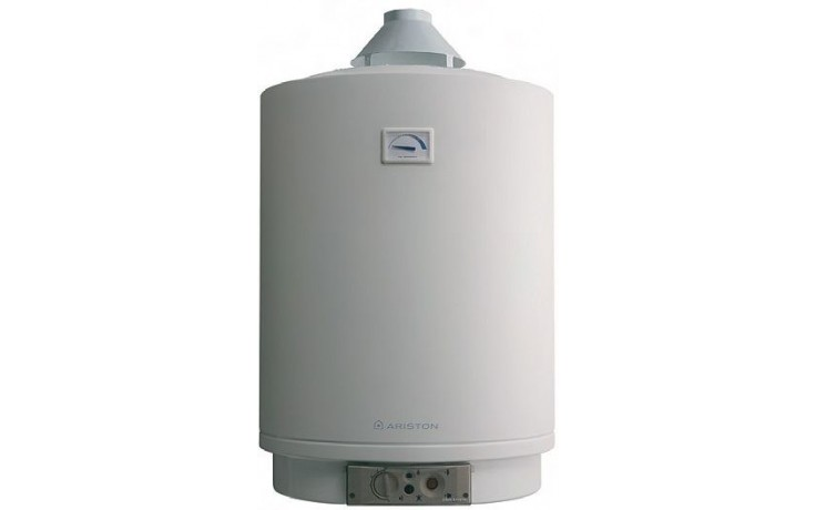 ARISTON 100 V CA plynový ohřívač 95l, 4,4kW, zásobníkový, závěsný, do komína, bílá