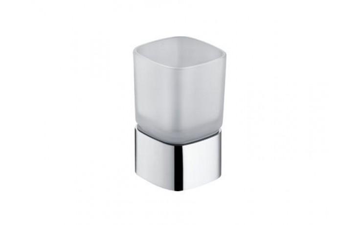 Doplněk držák se skleničkou Keuco Elegance 67x112cm chrom/sklo