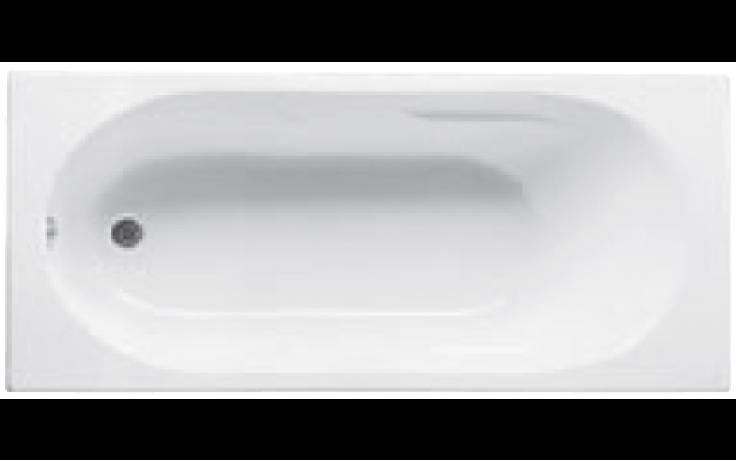 JIKA LYRA vana 1600x750mm akrylátová, obdélníková, včetně podpěr, bílá