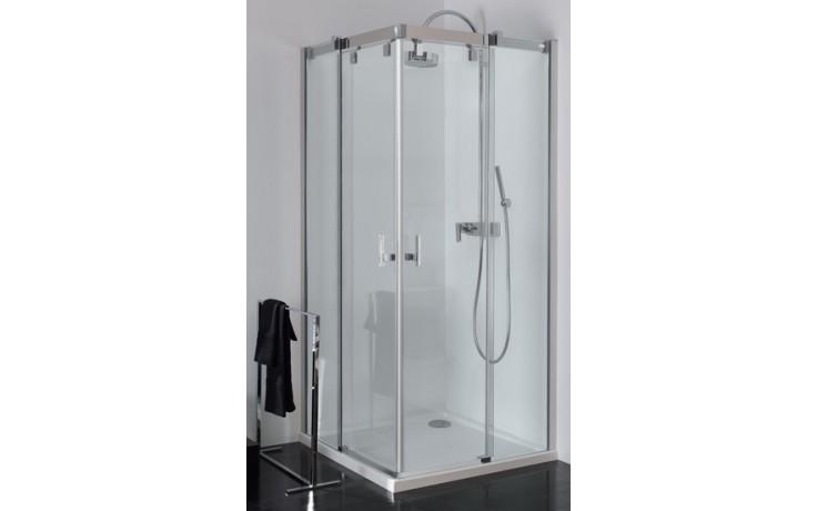 Zástěna sprchová čtverec Huppe sklo Vista pure 900x2000 mm chrom/čiré AP