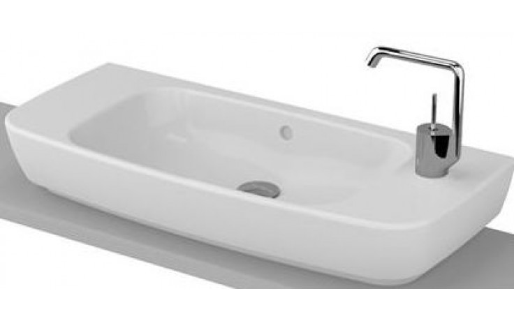 Umyvadlo nábytkové Vitra s otvorem Shift Compact s přepadem, otvor vpravo 80x35 cm bílá