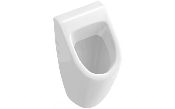 VILLEROY & BOCH SUBWAY odsávací pisoár 285x315mm s cílovým objektem, bez poklopu, Bílá Alpin 75130501