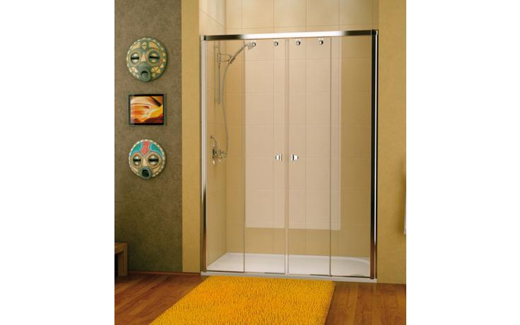 SANSWISS PUR LIGHT S PLS4 sprchové dveře 1800x2000mm, dvoudílné posuvné, aluchrom/čirá