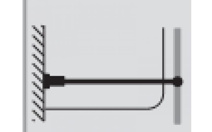 HÜPPE příčná vzpěra do 1200mm s kruhovým profilem 406156.091