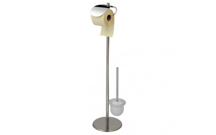 Doplněk WC sada GOZ METAL Držák wc štětky a toal. papíru 210x210x860 mm nerez lesk