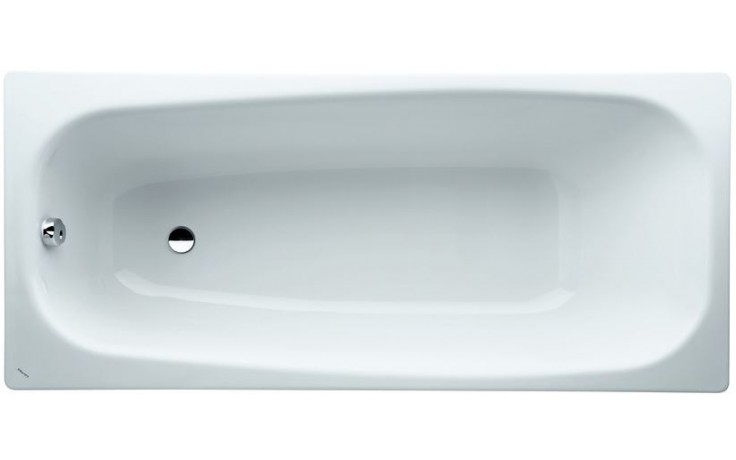 LAUFEN MODERNA PLUS vana 1700x410mm ocelová, s protihlukovými izolací, bílá