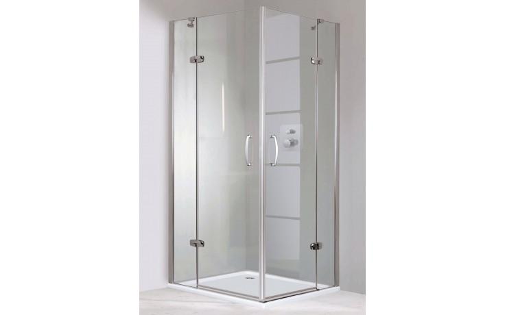 Zástěna sprchová dveře - sklo Concept 300 s pevným segmentem upevnění vpravo 800x1900mm stříbrná lesklá/čiré AP