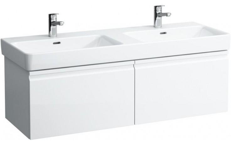 LAUFEN PRO S skříňka pod umyvadlo 1260x450mm se 2 zásuvkami, bílá lesk