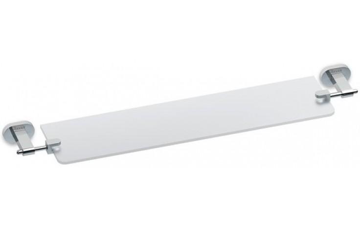 Doplněk polička Ravak Chrome CR 500.00 skleněná 64 cm sklo