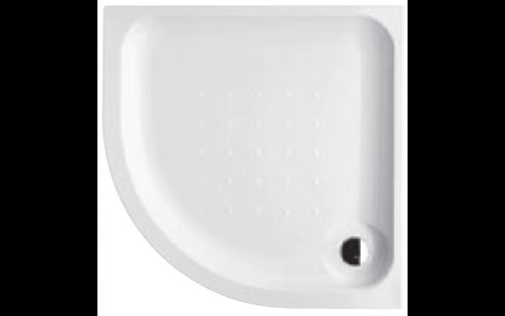 DEEP BY JIKA akrylátová sprchová vanička 800x800mm čtvrtkruhová, R550mm, samonosný rám, bílá