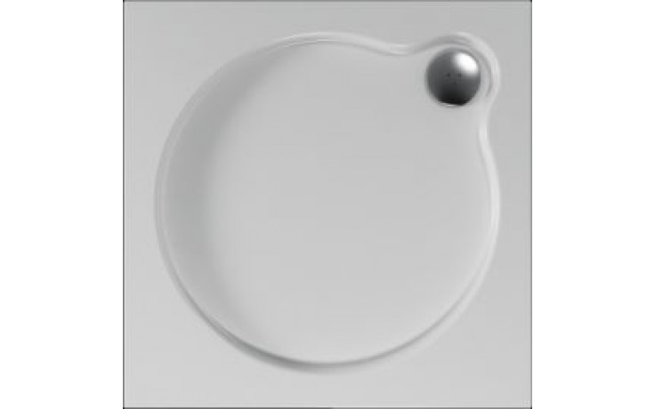 Vanička plastová Teiko čtverec - 100x100x3,5cm bílá