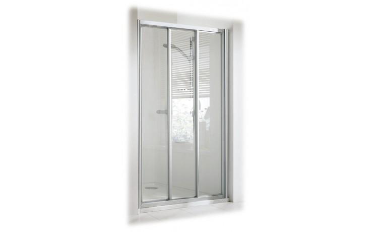 Zástěna sprchová dveře - plast Concept 100 800x1900mm bílá/plast matný