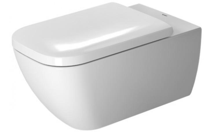 WC závěsné Duravit odpad vodorovný Happy D.2 36,5x62 cm bílá, wondergliss