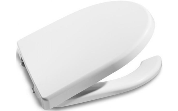ROCA MERIDIAN klozetové sedátko s poklopem, s nerezovými úchyty, odnímatelné, s antibakteriální úpravou, bílá 7801230004