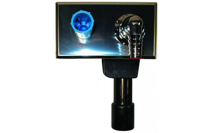 HL zápachová uzávěra DN40/50 podomítková vodní, pro pračky a myčky, nerez ocel/mosaz/PE-HD