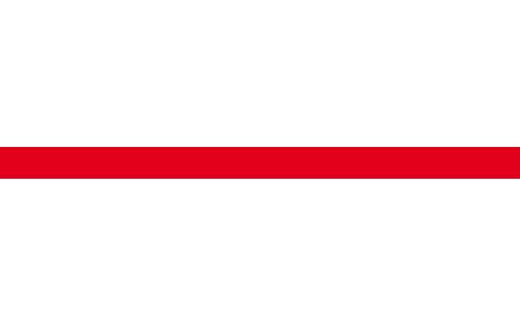 Listela Rako Concept Akcent 25x1,5 cm červená
