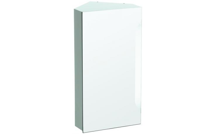 LAUFEN MODERNA PLUS rohová zrcadlová skříňka 370x296x700mm s osvětlením, 2 skleněné police, bílá 4.4510.5.054.463.1
