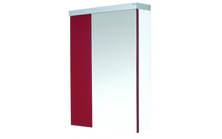 Nábytek zrcadlová skříňka Eden Granát 80x59x12 cm bílá/ořech