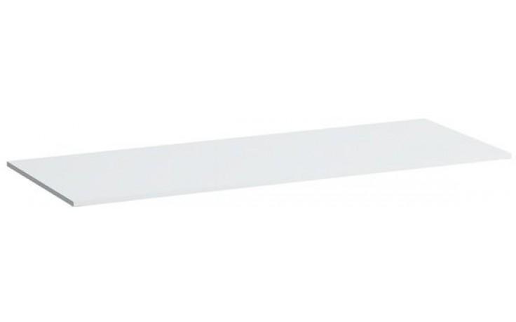 LAUFEN KARTELL BY LAUFEN umyvadlová deska 1200x460x12mm s výřezem vpravo, bílá lesk