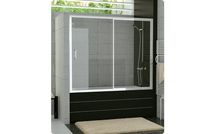 Zástěna vanová Ronal sklo TOP-line 1600x1500 mm aluchrom/durlux AQ