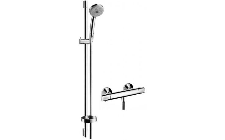 HANSGROHE CROMA 100 sprchová souprava Multi/Ecostat E DN15 s termostatem, nástěnná, chrom 27056000