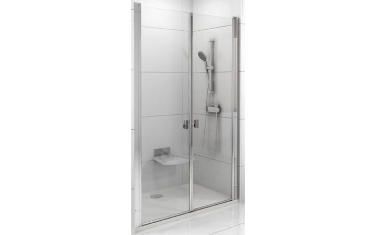 Zástěna sprchová dveře Ravak sklo Chrome CSDL2-110 1100x1950mm bílá/transparent