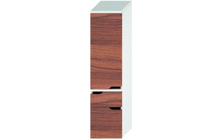 Nábytek skříňka Jika Mio new vysoká 363x1485x340 mm bílá-ořech
