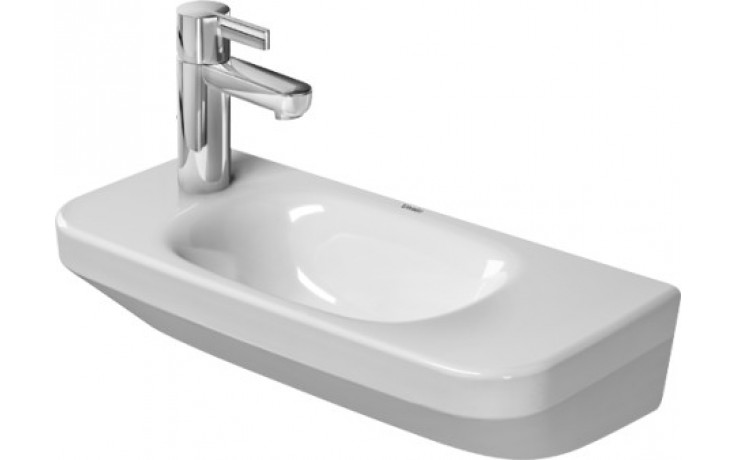 Umývátko klasické Duravit s otvorem DuraStyle otvor pro armaturu vpravo 50x22 cm bílá+WonderGliss