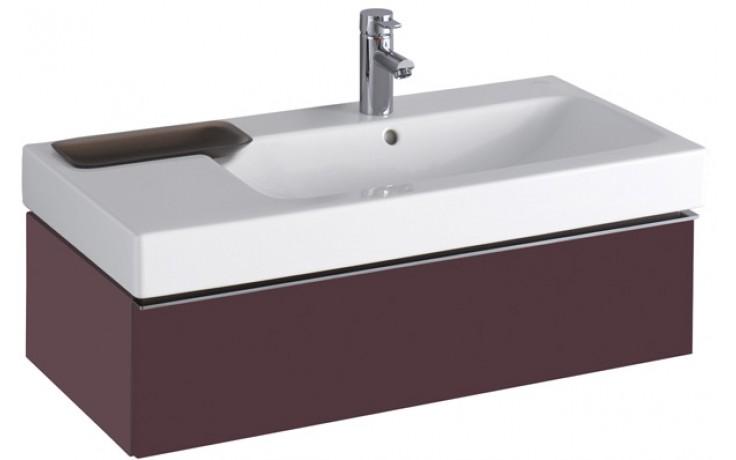 Nábytek skříňka pod umyvadlo Keramag iCon 89x24x47,7 cm burgundy lesklá