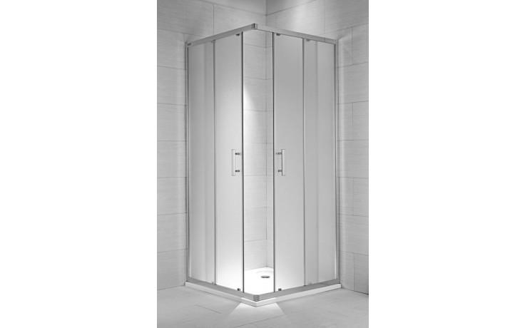 Zástěna sprchová čtverec Jika sklo Cubito pure 100x195 cm stříbrná lesklá/transparent