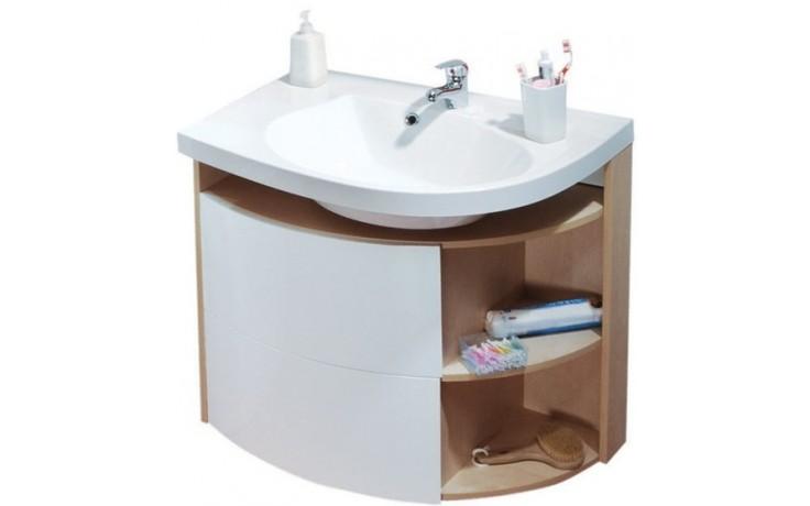 Nábytek skříňka pod umyvadlo Ravak SDU Rosa Comfort R se šuplíkem a košem na prádlo 780x500x680mm Strip Onyx/bílá