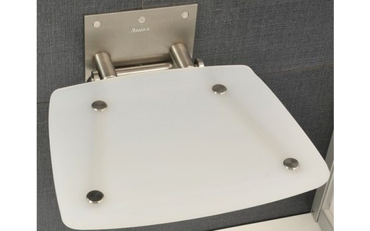 RAVAK OVO B sedátko 360x360x130mm do sprchového koutu, sklopné, opal B8F0000016