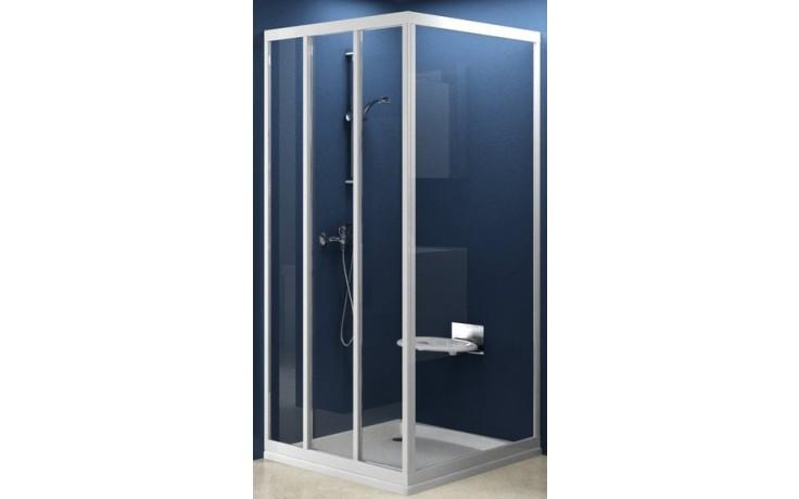 Zástěna sprchová dveře Ravak sklo APSS-pevná stěna 90 bílá/grape