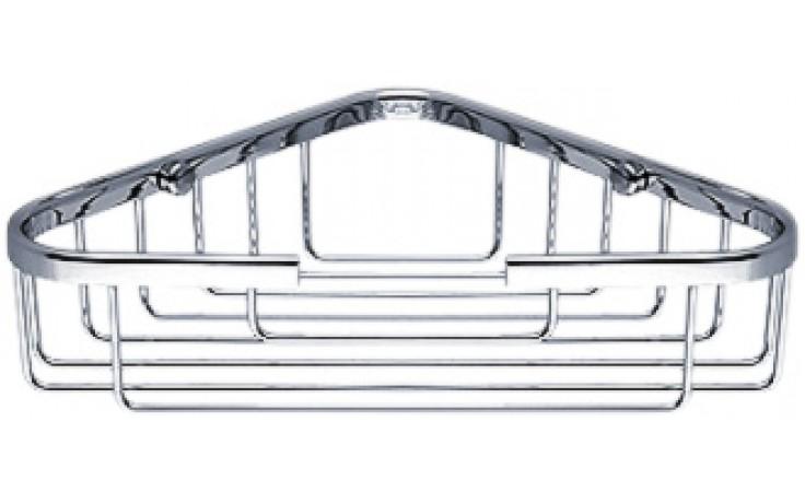 Doplněk polička Nimco Open rohová, drátěná 17,5x17,5x5,1 cm chromovaná mosaz