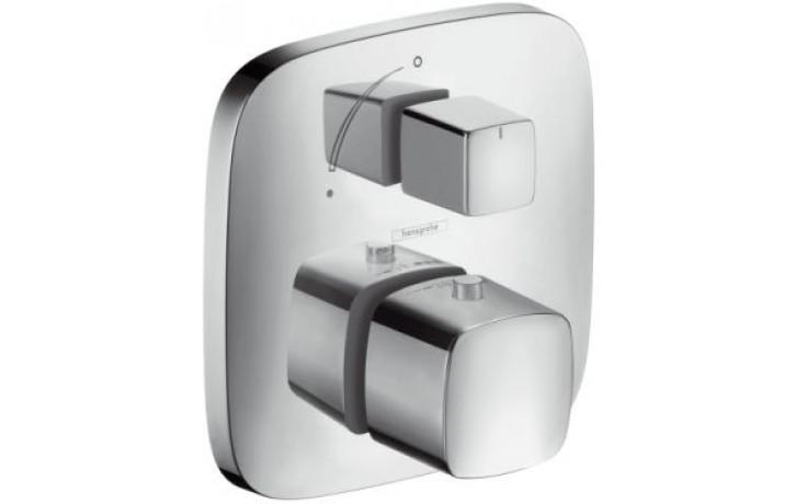 Baterie termostatická Hansgrohe - PuraVida pod omítku,s uzavír.ventilem, vrchní sada  bílá-chrom