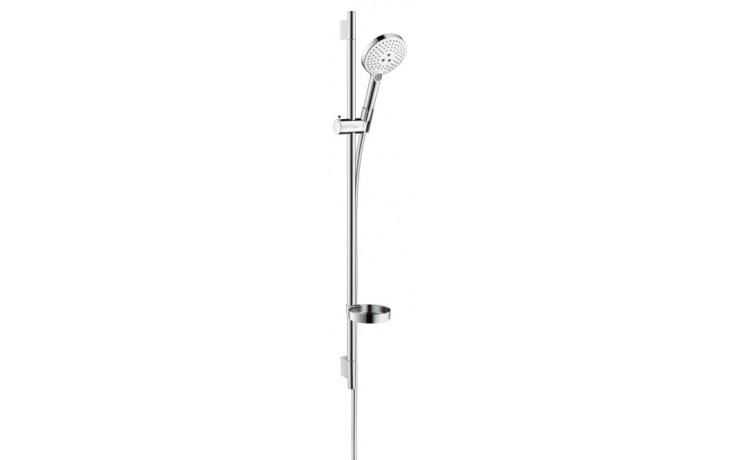 Sprcha sprchový set Hansgrohe Raindance Select S120 3jet EcoSmart Unica´S Puro 90 l=900 mm bílá-chrom
