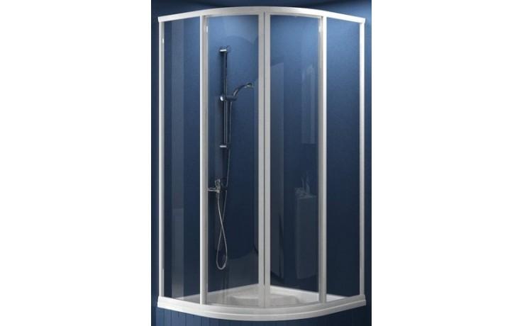 Zástěna sprchová čtvrtkruh Ravak plast SKCP4-80 Sabina 800x1700mm satin/pearl