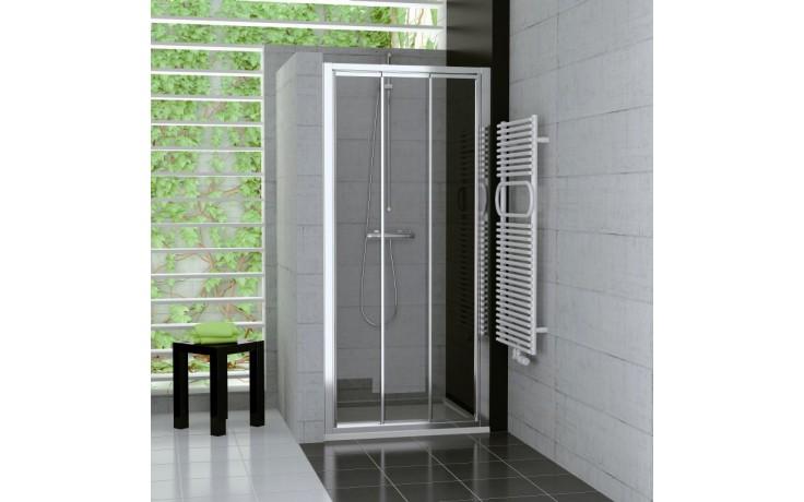 Zástěna sprchová dveře Ronal sklo TOP-Line TOPS3 1200 04 44 1200x1900 mm bílá/cristal perly