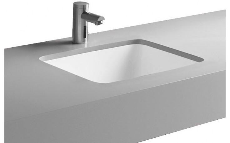 Umyvadlo zápustné Kolo bez otvoru Style 50x38 cm bílá