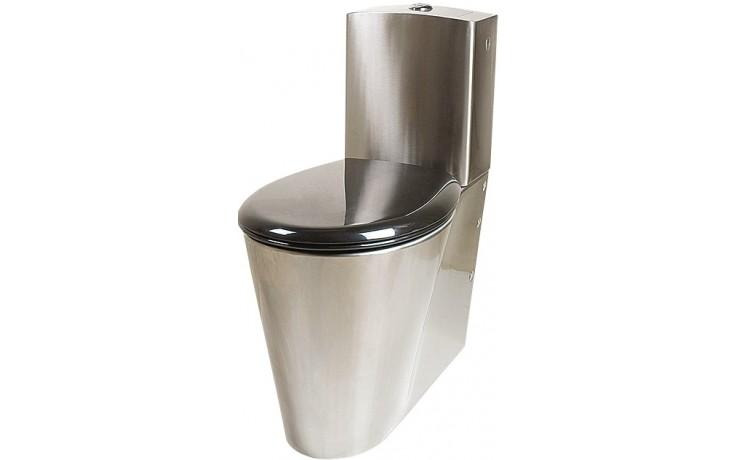 SANELA SLWN16 WC kombi 360x700x825mm, s nádržkou, pro tělesně handicapované, nerez mat