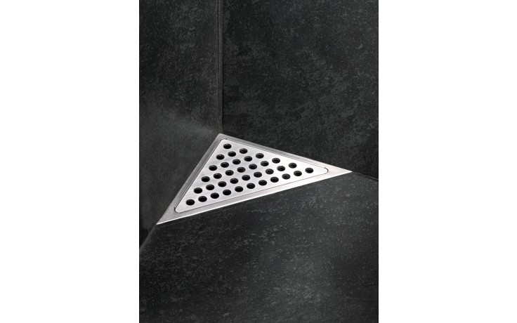 Žlab podlahový Unidrain - Odtokový žlab rohový ClassicLine 2011 délka 200mm nerez