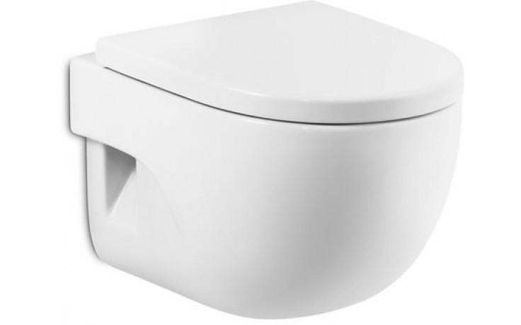 ROCA MERIDIAN závěsný klozet 360x560mm hluboké splachování, vodorovný odpad, bílá MaxiClean