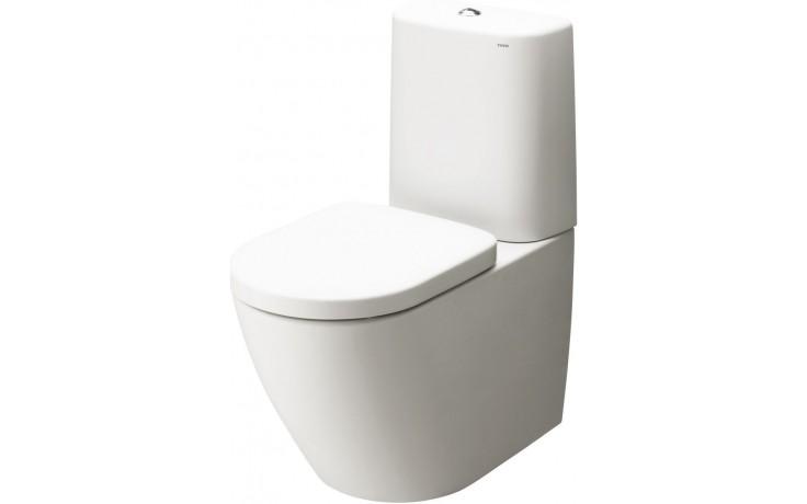 TOTO NC nádržka WC 376x174mm s keramickým krytem, kulatá, bílá