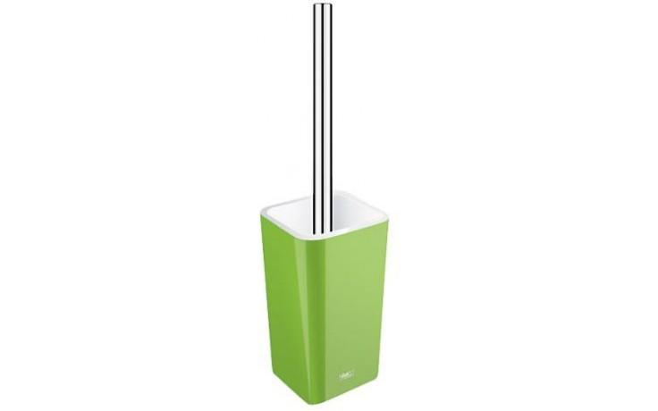 NIMCO ELI toaletní WC kartáč 85x85x355mm stojánkový, zelená/chrom EL 3094-70