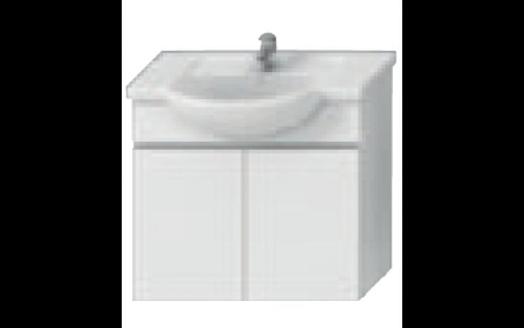 JIKA LYRA skříňka pod umyvadlo 670x315x696mm, bílá/bílý lak