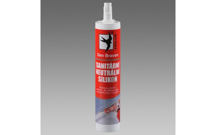 DEN BRAVEN OXIM sanitární silikon 310ml, neutrální, bílá