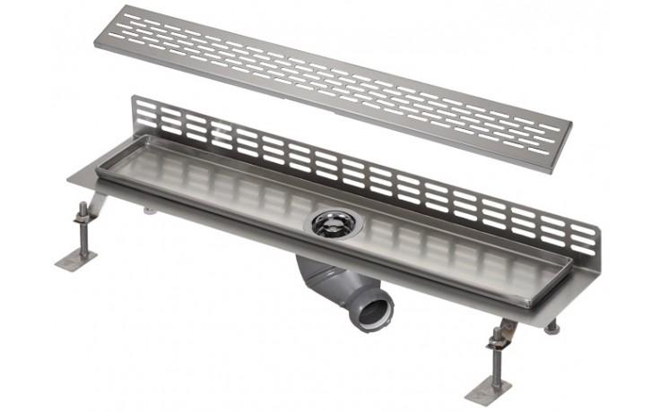 SANELA SLKN06EX koupelnový žlábek 750mm ke stěně, nerez mat