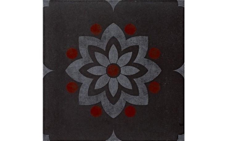 IMOLA HABITAT dekor 20x20cm black, MEMORIES 1 20N