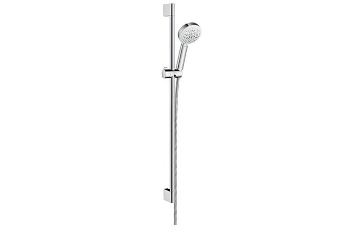 HANSGROHE sada ruční sprcha Crometta 100 Vario/nástěnná tyč Unica'Croma bílá/chrom 26657400